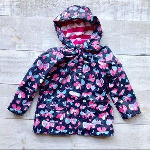 HATLEY Butterfly raincoat   blue pink size 5